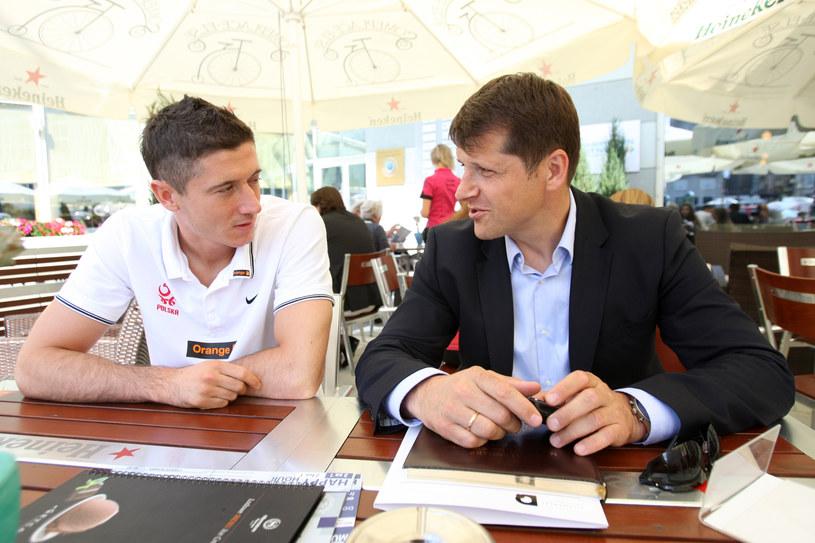 Robert Lewandowski i Cezary Kucharski w 2011 roku /Piotr Kucza /Newspix