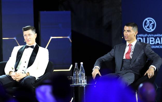 Robert Lewandowski i Cristiano Ronaldo /ALI HAIDER /PAP/EPA