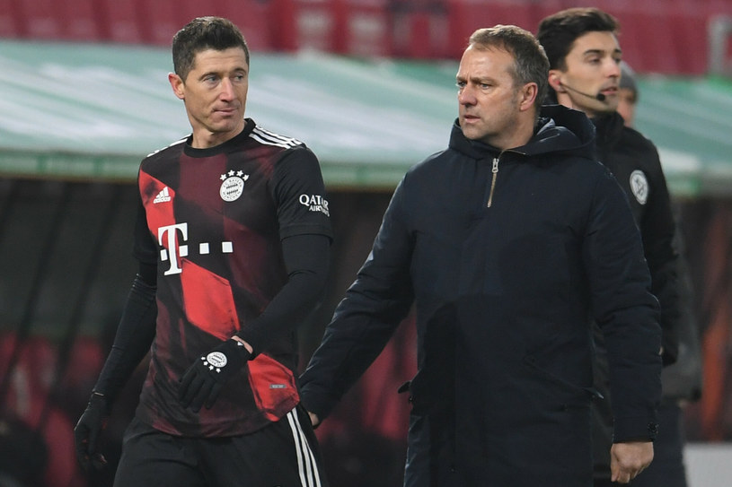Robert Lewandowski i Hansi Flick /Andreas Gebert /East News