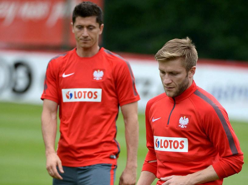 Robert Lewandowski i Jakub Błaszczykowski podczas treningu reprezentacji /Bartłomiej Zborowski /PAP