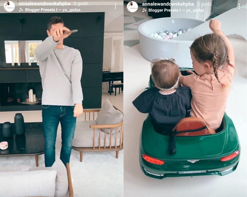 Robert Lewandowski i jego dzieci/ Fot.: Instagram Anny Lewandowskiej /