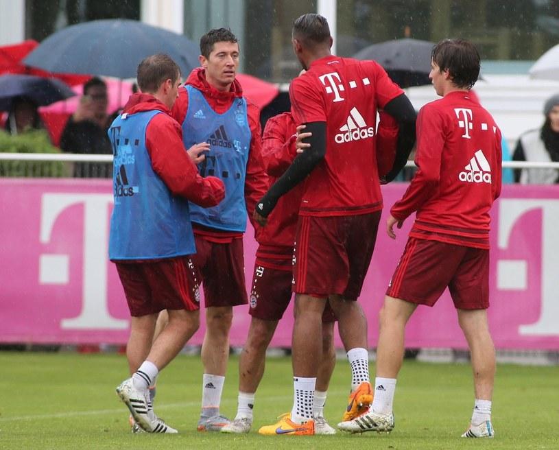 Robert Lewandowski i Jerome Boateng w ostrej wymianie zdań / fot. Imago Sport and News /East News