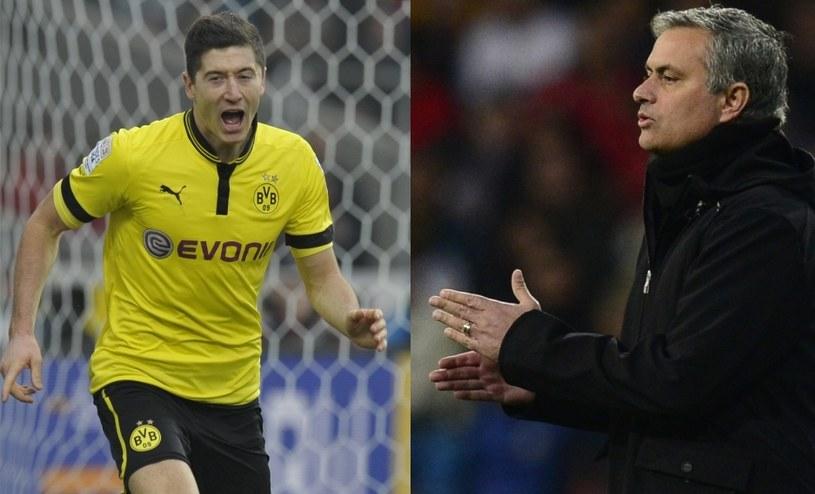 Robert Lewandowski i Jose Mourinho /AFP