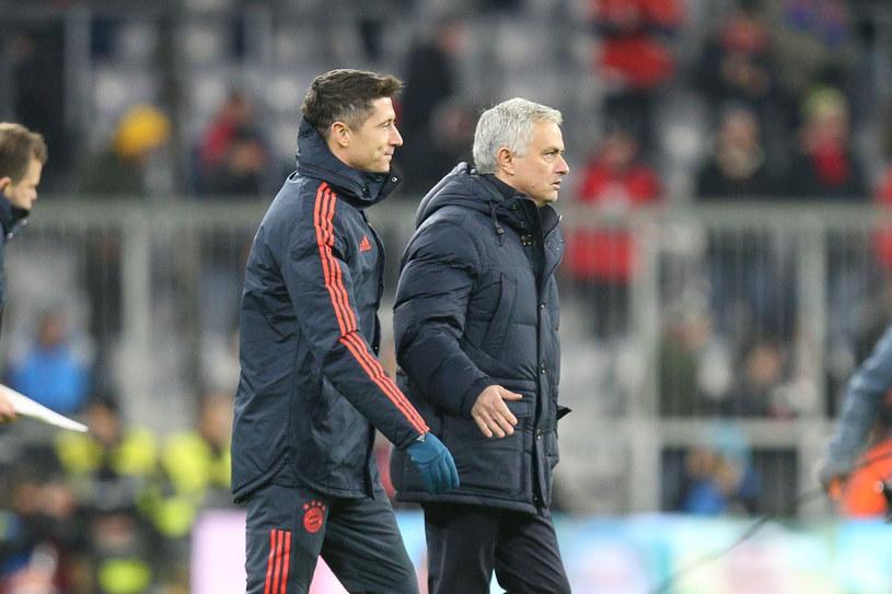 Robert Lewandowski i Jose Mourinho /East News