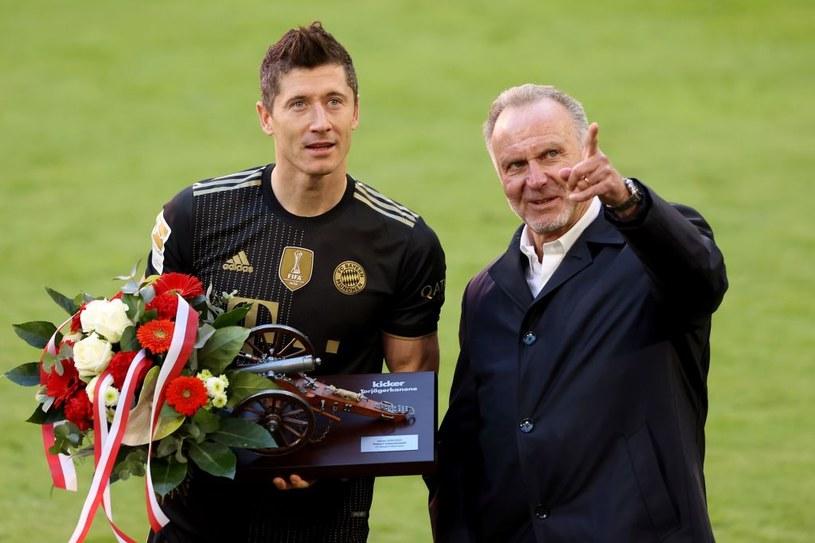 Robert Lewandowski i Karl-Heinz Rummenigge /Alexander Hassenstein /Getty Images