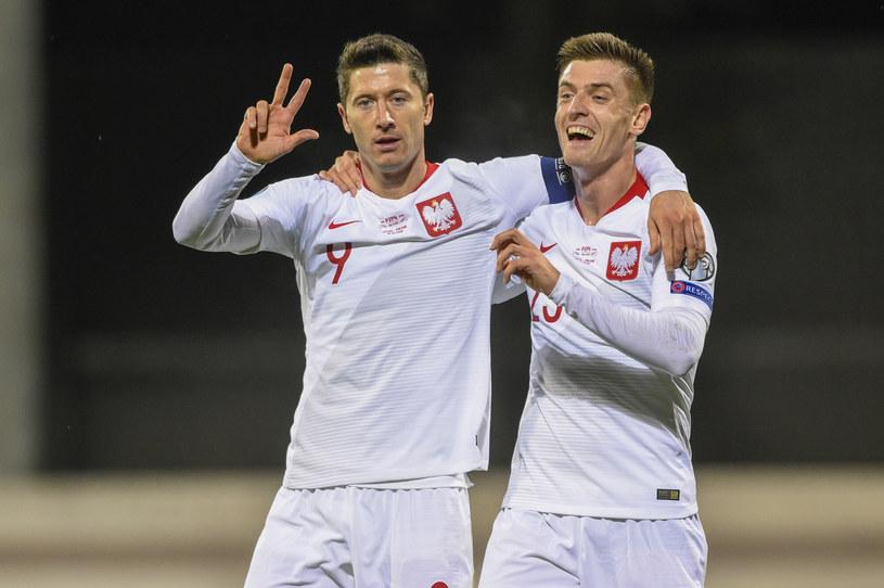 Robert Lewandowski i Krzysztof Piątek /Andrew Surma/Sipa USA/East News /East News