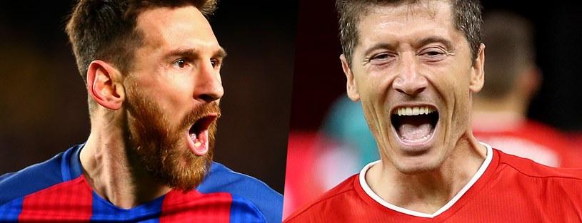 Robert Lewandowski i Leo Messi /Getty Images