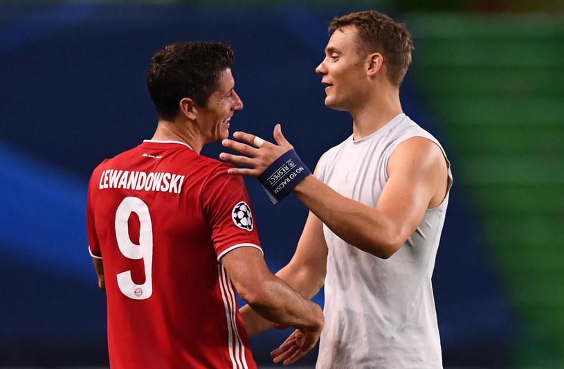 Robert Lewandowski i Manuel Neuer /Franck Fife / POOL /AFP