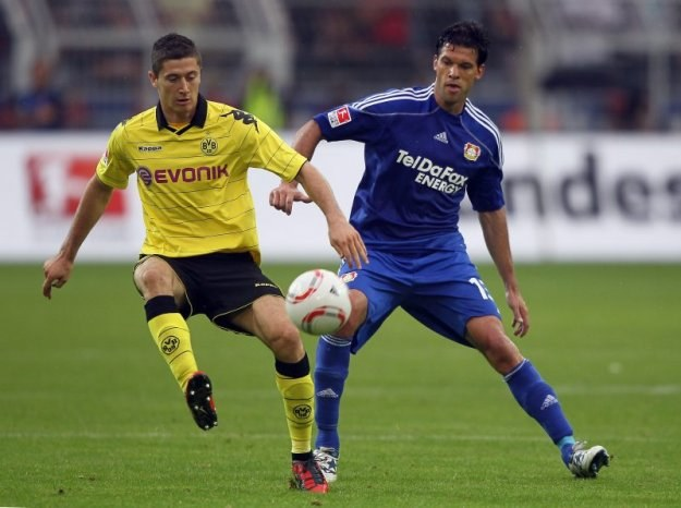 Robert Lewandowski i Michael Ballack (z prawej) /Getty Images/Flash Press Media