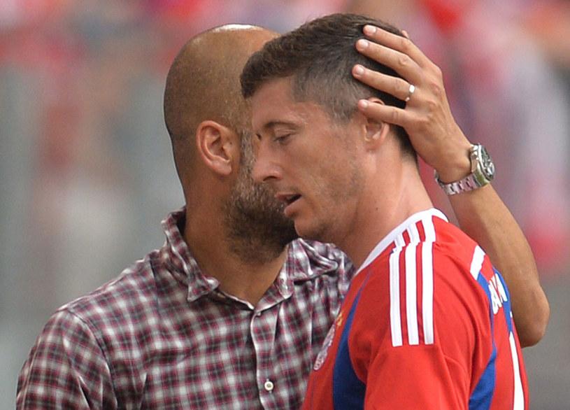 Robert Lewandowski i Pep Guardiola /AFP