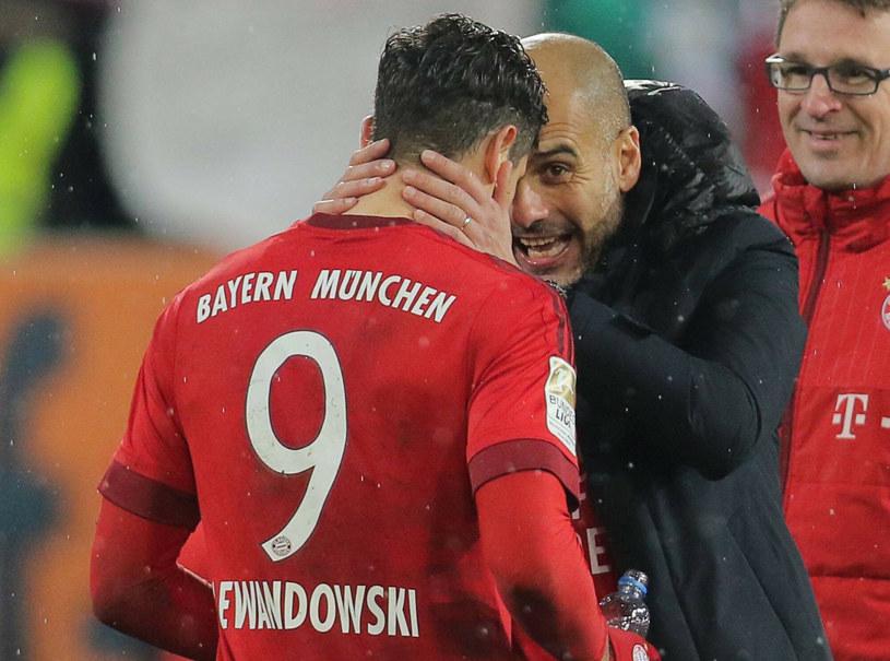 Robert Lewandowski i Pep Guardiola /imago/ActionPictures/EAST NEWS /East News