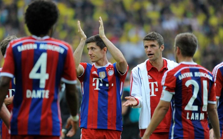 Robert Lewandowski i Thomas Muller po meczu o Superpuchar Niemiec w Dortmundzie /Bartłomiej Zborowski /PAP