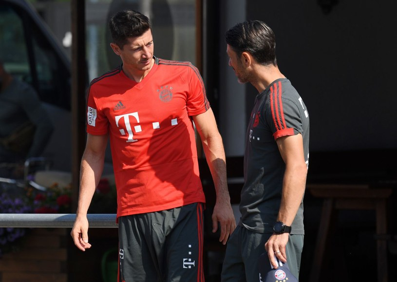 Robert Lewandowski i trener Niko Kovacz /AFP