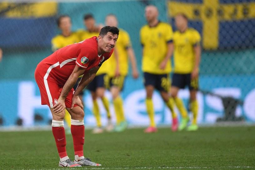 Robert Lewandowski, jak i cała reprezentacja Polski, zakończył start na Euro 2020, w fazie grupowej /AFP