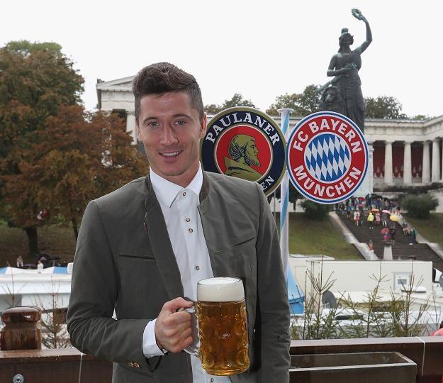 Robert Lewandowski na dożynkach Oktoberfest 2016 /AFP