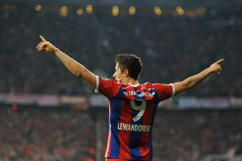 Robert Lewandowski po bramce z Borussią Dortmund /AFP