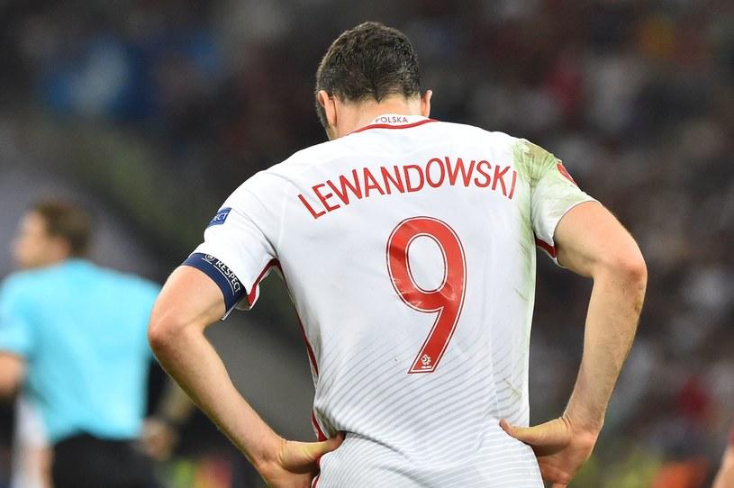 Robert Lewandowski po meczu z Portugalią /AFP