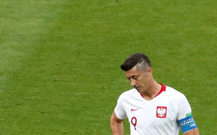 Robert Lewandowski po meczu z Senegalem /Abedin Taherkenareh   /PAP/EPA