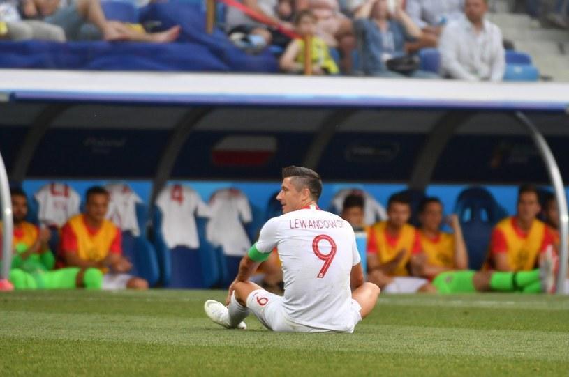 Robert Lewandowski podczas meczu piłkarskich mistrzostw świata z Japonią w Wołgogradzie /Bartłomiej  Zborowski /PAP