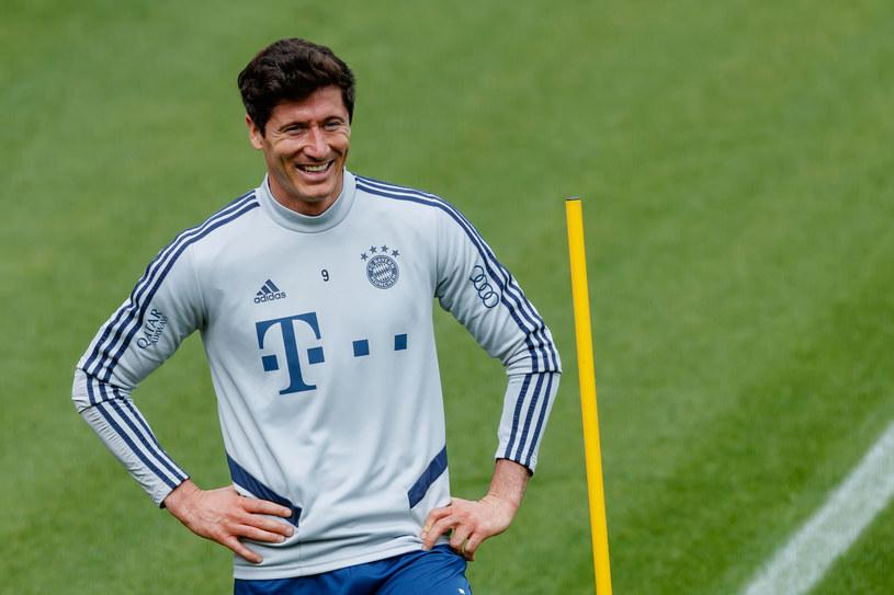 Robert Lewandowski podczas treningu Bayernu Monachium /Roland Krivec/DeFodi.eu/Imago Sport and News/ /Getty Images