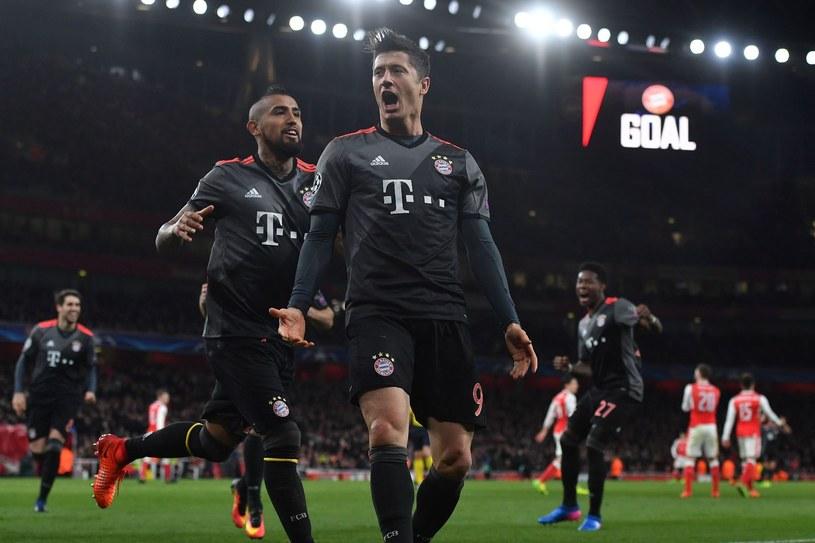 Robert Lewandowski strzelił Arsenalowi dwa gole /AFP