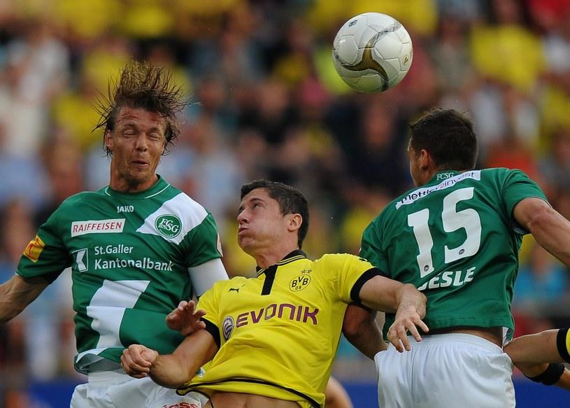 Robert Lewandowski strzelił gola w sparingu z St. Gallen /- /PAP/EPA
