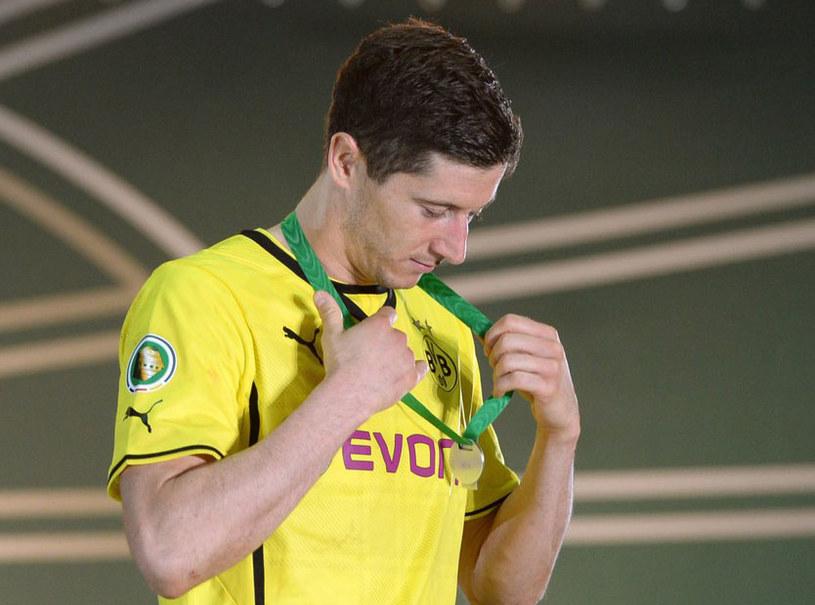 Robert Lewandowski w barwach Borussii Dortmund /AFP