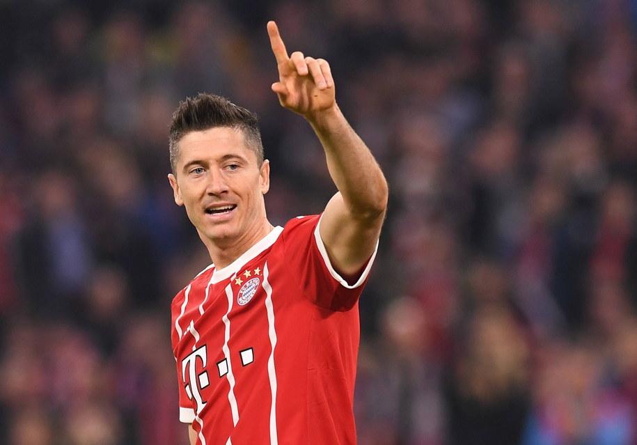 Robert Lewandowski w meczu Ligi Mistrzów pomiędzy Bayernem Monachium i Celtikiem FC /Lukas Barth/Anadolu Agency/Abaca /PAP