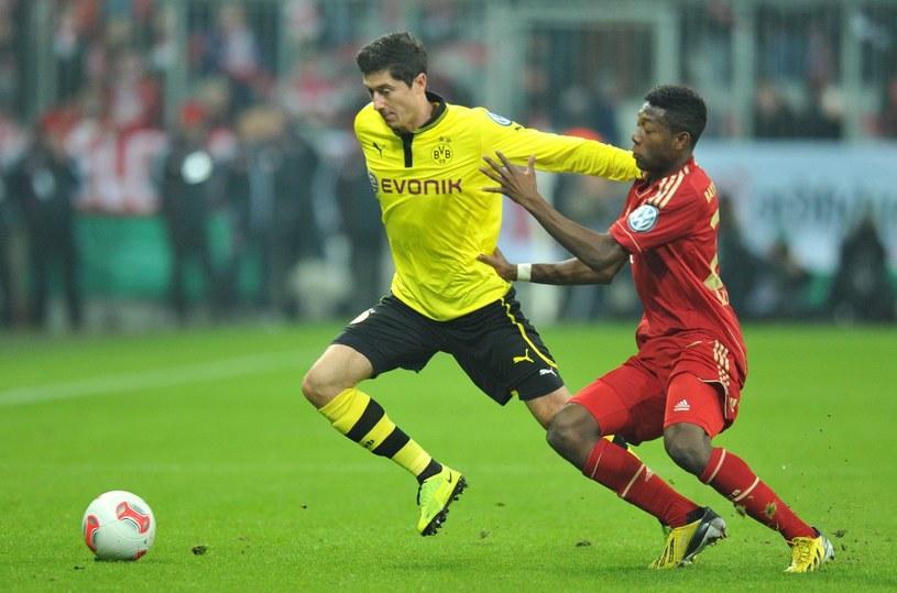 Robert Lewandowski w meczu z Bayernem Monachium /PAP/EPA