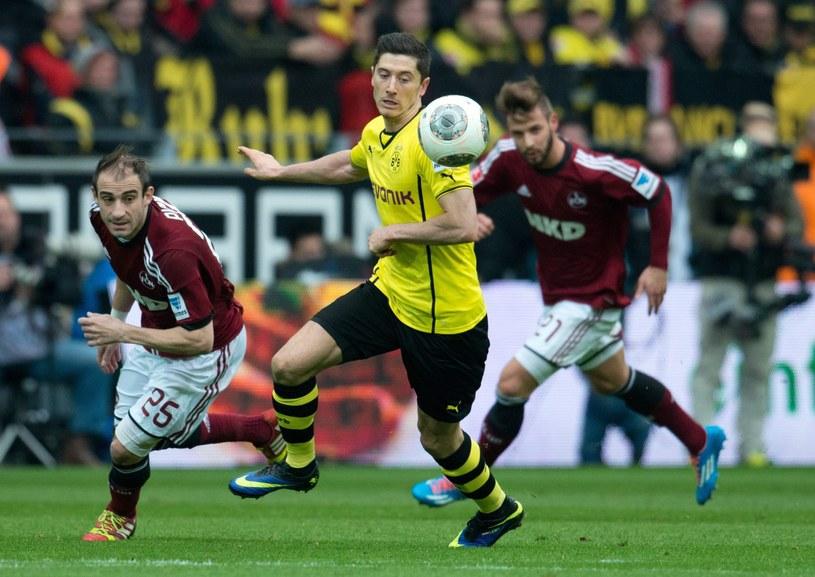 Robert Lewandowski w meczu z FC Nuernberg strzelił gola i zaliczył asystę /PAP/EPA
