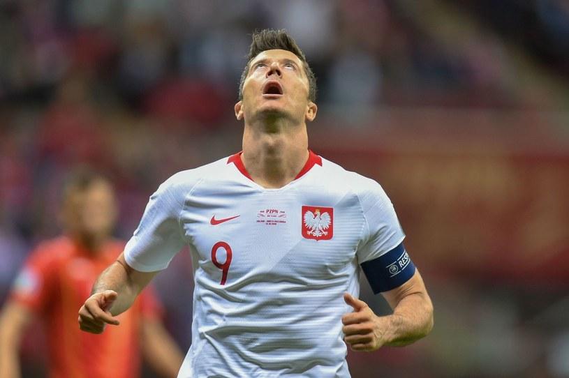 Robert Lewandowski w reprezentacji Polski /AFP