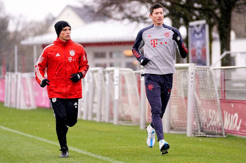 Robert Lewandowski w trakcie rehabilitacji /R. Can/FC Bayern /Getty Images