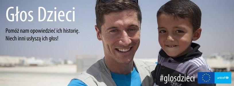Robert Lewandowski wspiera kampanię Głos Dzieci, Fot Facebook /Internet