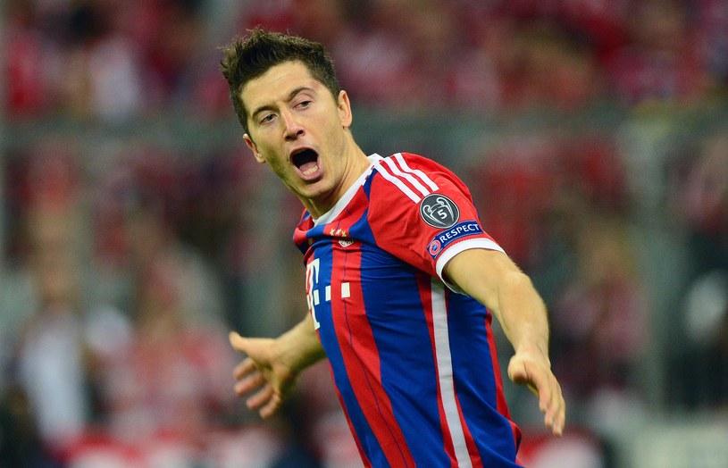 Robert Lewandowski z Bayernem Monachium zdobył mistrzostwo Niemiec i awansował do półfinału Ligi Mistrzów /AFP