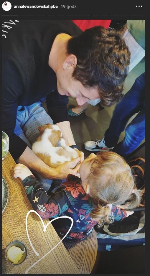 Robert Lewandowski z córką Klarą /Instagram/ Anna Lewandowska /Instagram