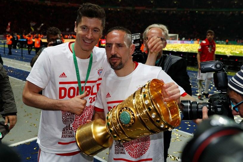 Robert Lewandowski (z lewej) i Franck Ribery /AFP