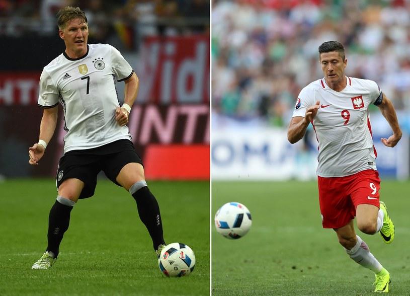 Robert Lewandowski (z prawej) i Bastian Schweinsteiger /AFP