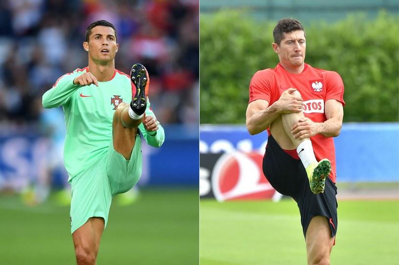 Robert Lewandowski (z prawej) i Cristiano Ronaldo /AFP