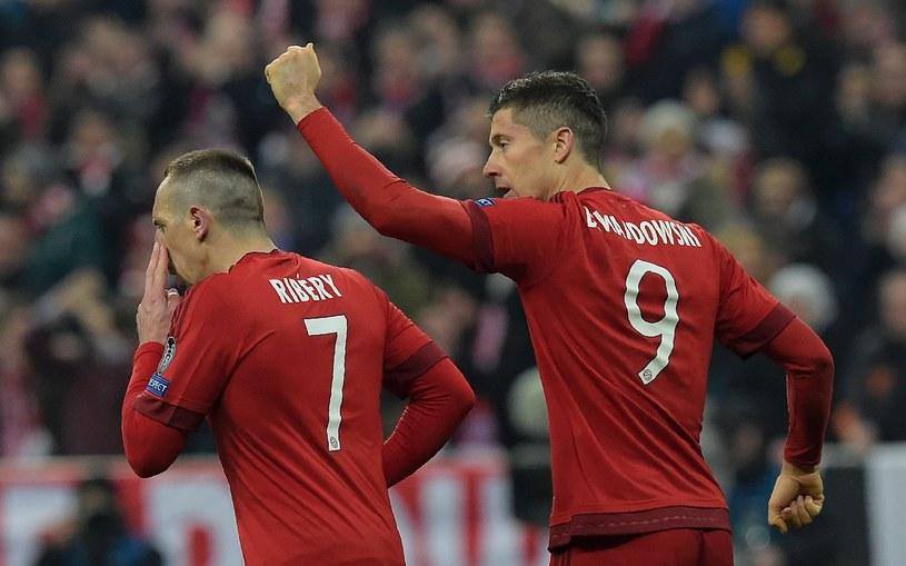 Robert Lewandowski (z prawej) i Franck Ribery /AFP