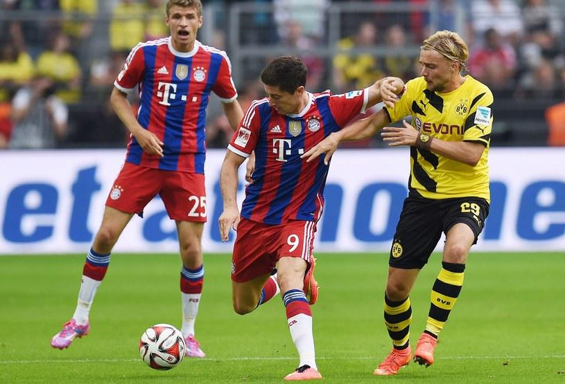 Robert Lewandowski zagrał przeciwko Borussii Dortmund w meczu o Superpuchar Niemiec /AFP