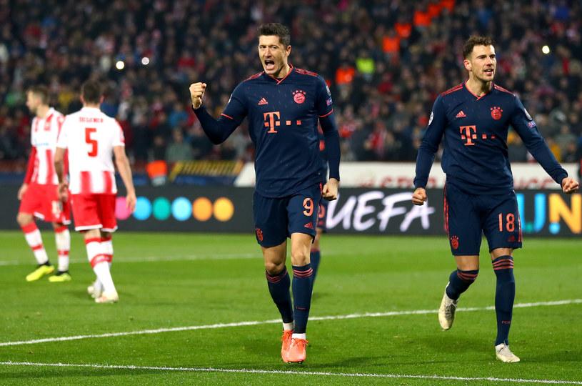 Robert Lewandowski zdobył cztery bramki w meczu z Crveną Zvezdą /Getty Images
