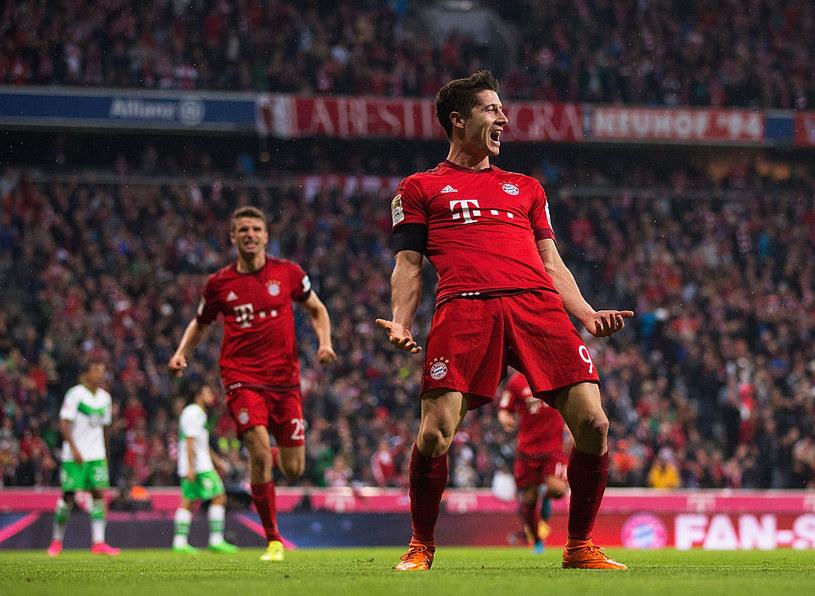 Robert Lewandowski zdobył pięć bramek w dziewięć minut w meczu z Wolfsburgiem /Adam Pretty /Getty Images