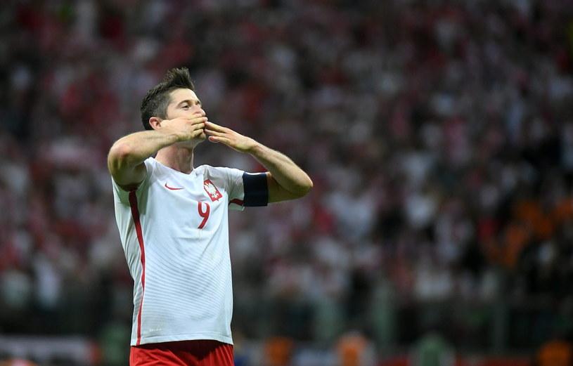 Robert Lewandowski zdobył w meczu z Rumunią hat-tricka /Bartłomiej Zborowski /PAP