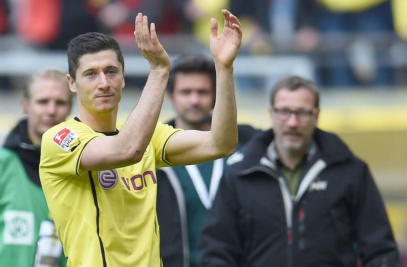 Robert Lewandowski żegna się z Borussią Dortmund /AFP