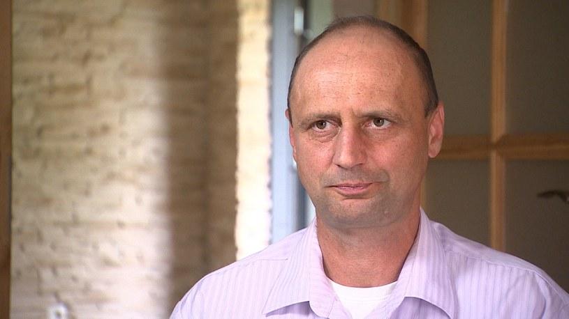 Robert Majcher, którego oskarżono o bycie pomysłodawcą zbrodni /Polsat News