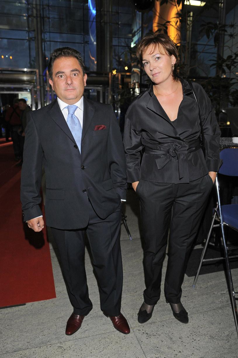 Robert Makłowicz z żoną /Tricolors /East News