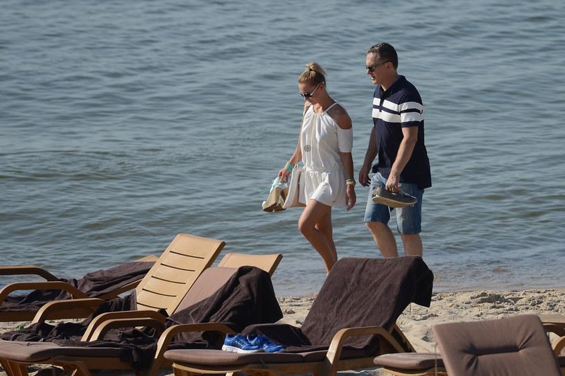 Robert Moskwa z byłą żoną /Mateusz Jagielski /East News