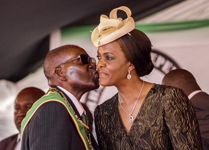 Robert Mugabe i Grace Mugabe /AFP