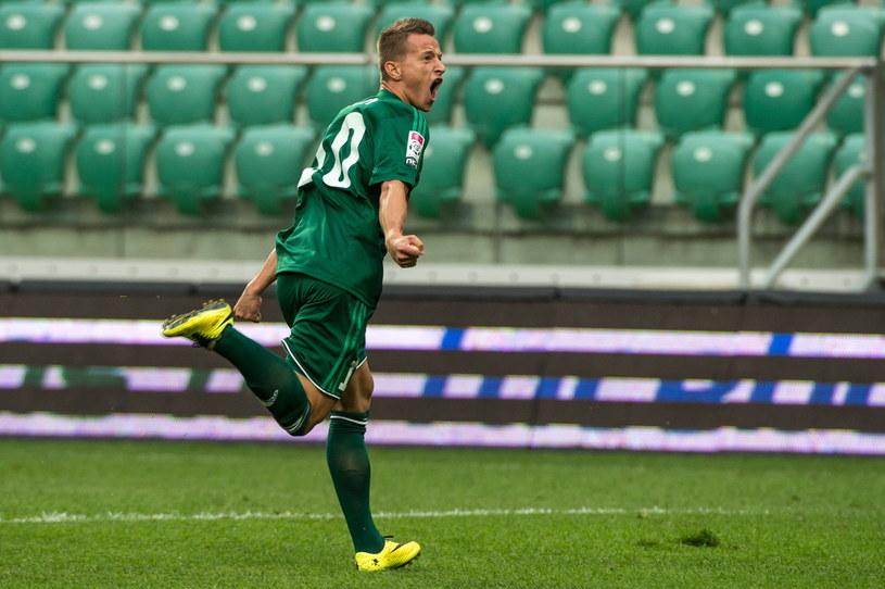 Robert Pich ze Śląska Wrocław zdobył w tym sezonie już cztery bramki /Maciej Kulczyński /PAP