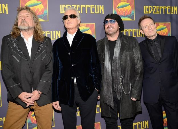 Robert Plant, Jimmy Page, Jason Bonham i John Paul Jones (Led Zeppelin) - fot. Kevin Mazur /Getty Images/Flash Press Media